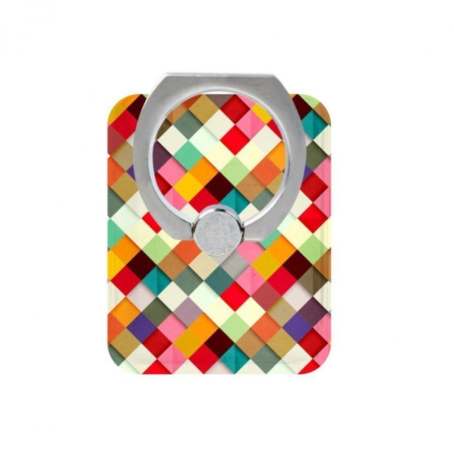 Sormi Rengas Standi Älypuhelimille Värikäs 3d Ristikko