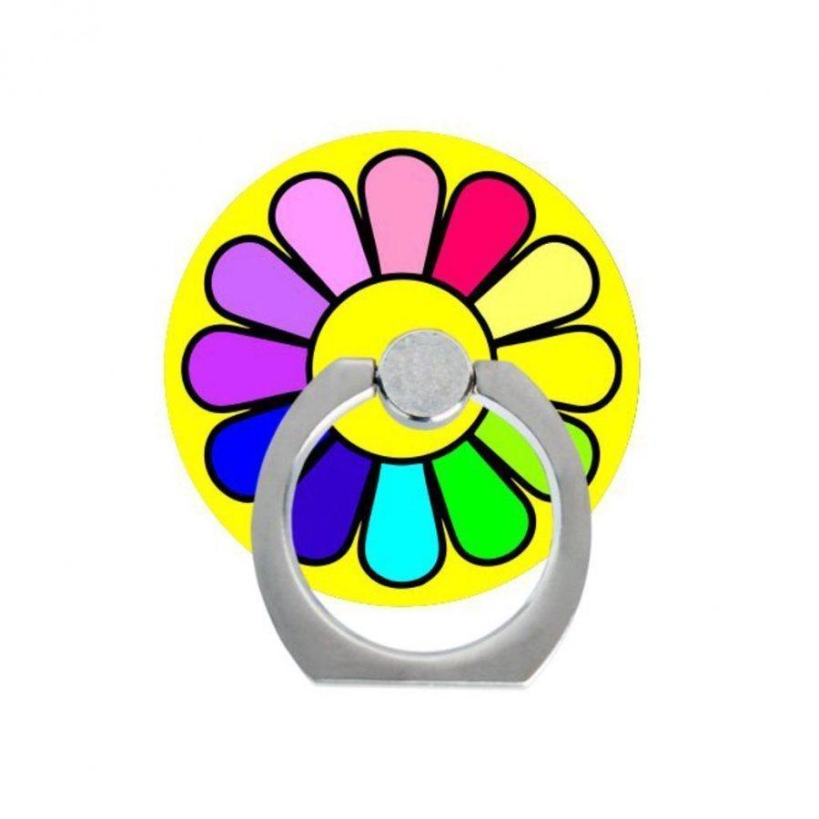 Sormi Rengas Standi Älypuhelimille Värikäs Kukka