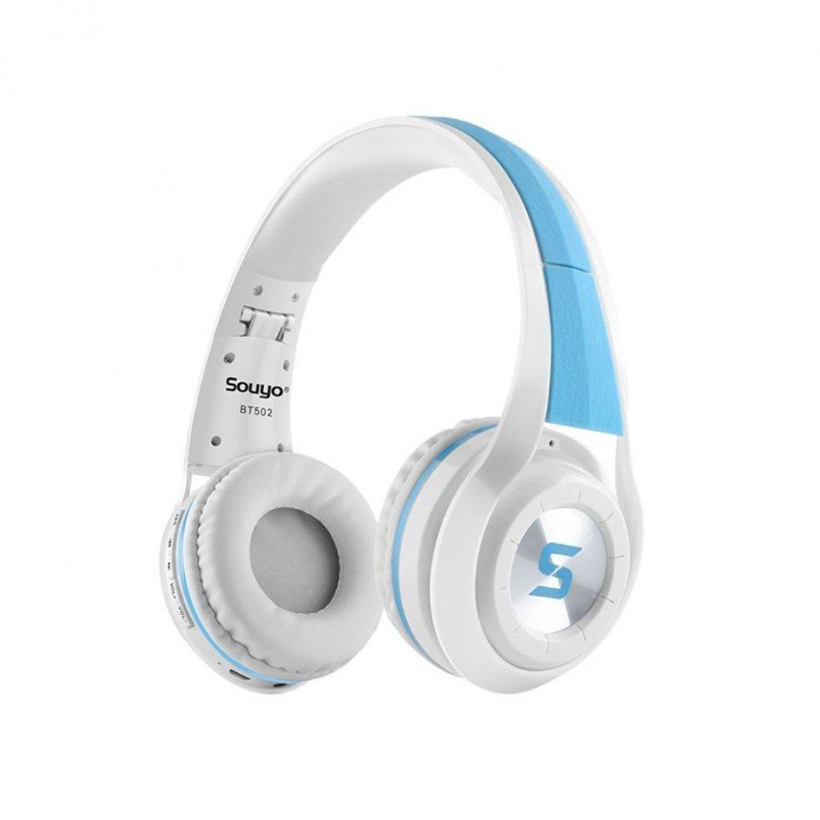 Souyo Bt502 Taitettavat Bluetooth 4.0 Stereo Kuulokkeet Musta / Punainen
