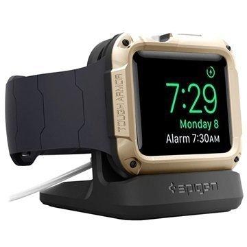 Spigen S350 Apple Watch Yöpöytäteline Musta