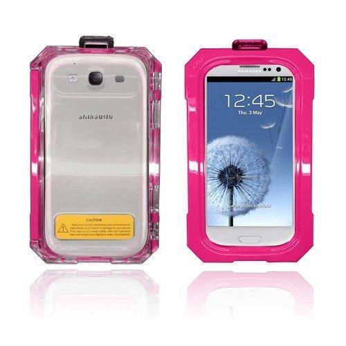 Splash Samsung Galaxy S3 Vesitiivis Kotelo Kuuma Pinkki