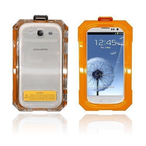 Splash Samsung Galaxy S3 Vesitiivis Kotelo Oranssi