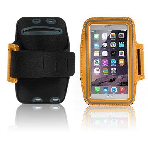 Sports Fitness Käsivarsikotelot Älypuhelimille Koko 16 X 8.5 Cm Oranssi