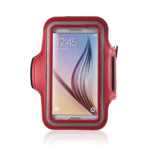 Sports Juokseminen Käsivarsikotelot Älypuhelimille Koko 14.6 X 7.3cm Punainen