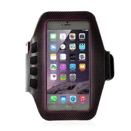 Sports Juokseminen Käsivarsikotelot Avainnipun Älypuhelimille Koko 16 X 8.5cm Kuuma Pinkki