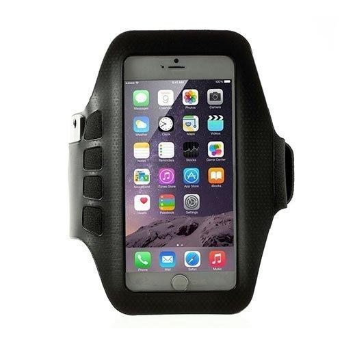 Sports Juokseminen Käsivarsikotelot Avainnipun Älypuhelimille Koko 16 X 8.5cm Musta