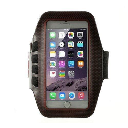 Sports Juokseminen Käsivarsikotelot Avainnipun Älypuhelimille Koko 16 X 8.5cm Punainen