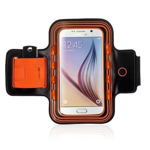 Sports Käsivarsikotelot Valolla Älypuhelimille Koko 14 X 7.3cm Oranssi