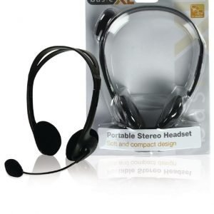 Stereo headset musta