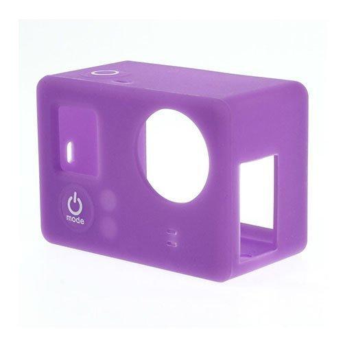 Suojaava Silikoni Kotelo Gopro3 3+ Kameroille Violetti