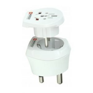Swiss Travelproducts 230V 16A Adaptor for SouthAfrika & Europe