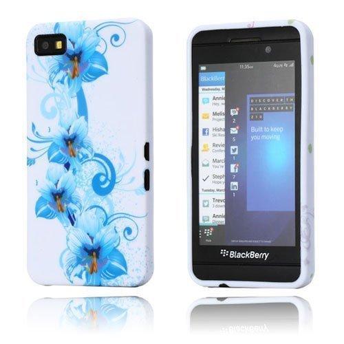 Symphony Siniset Kukat Blackberry Z10 Suojakotelo