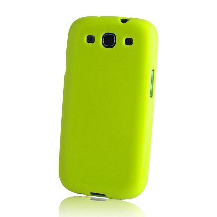 TPU Case silikoninen suojakotelo iPhone 5 ja 5S lime