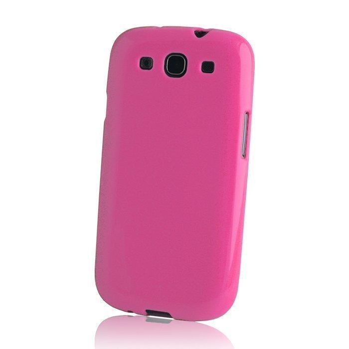 TPU Case silikoninen suojakotelo iPhone 5 ja 5S pinkki