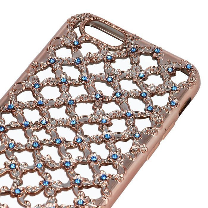TPU Flower Diamond iPhone 7 Rose Gold Suojakotelo