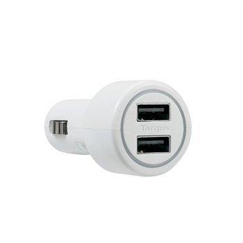 Targus Universal Dual USB Autolaturi Valkoinen.