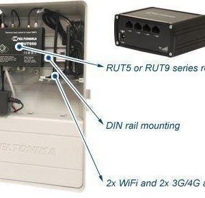 Teltonika RUT reitittimen suojakotelo akulla + power over ethernet ulkokäyttöön BOX112