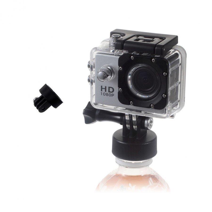 Toiminta Kameroiden Pulloon Kiinnitettävä Adapteri Musta