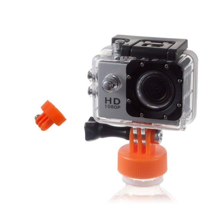 Toiminta Kameroiden Pulloon Kiinnitettävä Adapteri Oranssi