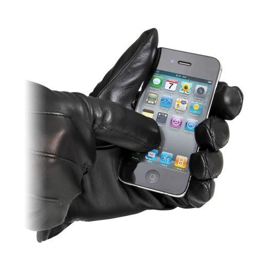 Trophy Leather Gloves With Touchpad Activation Musta