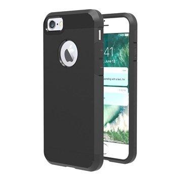 Tuff-Luv Slim Armour 2-kerroksinen TPU suojakuori iPhone 7 Musta
