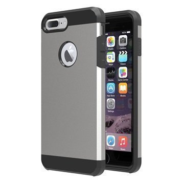 Tuff-Luv Slim Armour 2-kerroksinen TPU suojakuori iPhone 7 Plus Harmaa