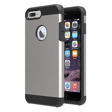 Tuff-Luv Slim Armour 2-kerroksinen TPU suojakuori iPhone 7 Plus Harmaa