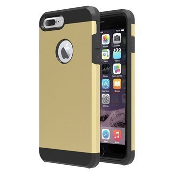 Tuff-Luv Slim Armour 2-kerroksinen TPU suojakuori iPhone 7 Plus Kulta