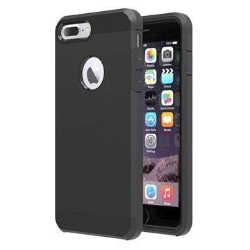 Tuff-Luv Slim Armour 2-kerroksinen TPU suojakuori iPhone 7 Plus Musta