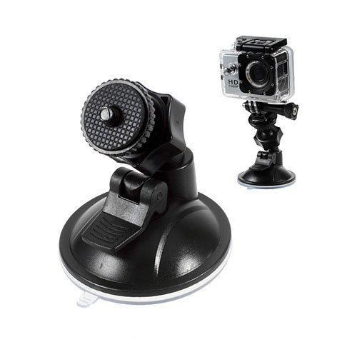 Tuulilasiin Kiinnitettävä Imukuppi Autoteline Gopro Kameralle Musta