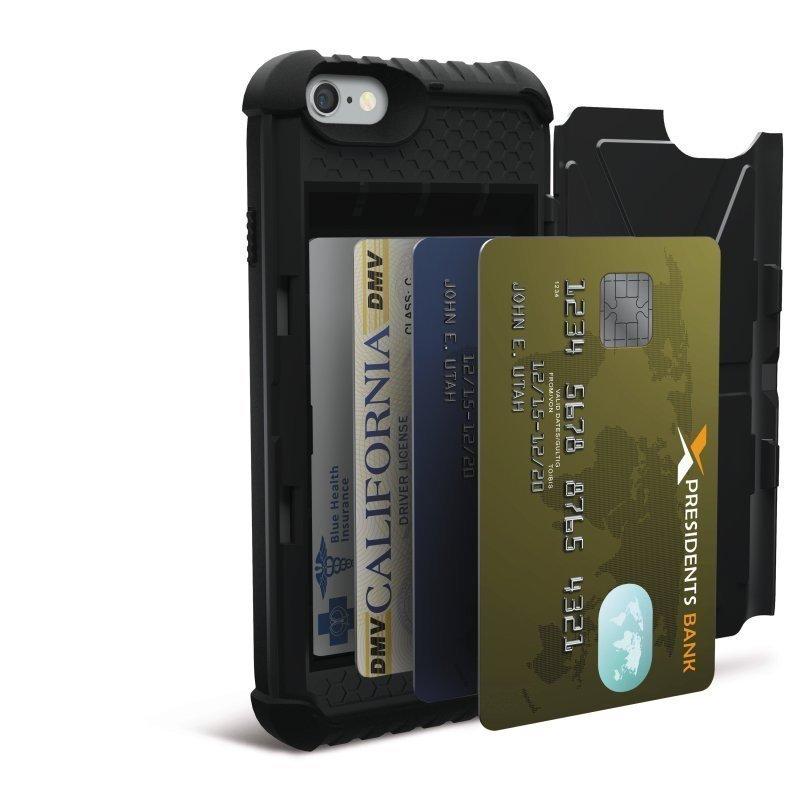 UAG Urban Armor Gear Card Case suojakotelo iPhone 6 tai 6S Musta