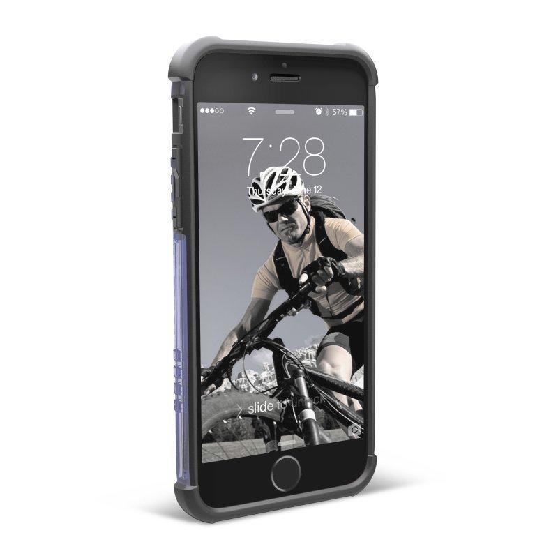 UAG Urban Armor Gear Composite kestävä suojakotelo iPhone 6 läpinäkyvä / sininen