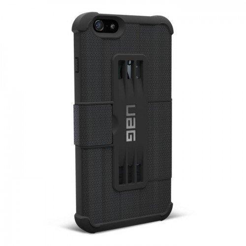 UAG Urban Armor Gear Folio kestävä suojakotelo iPhone 6 / 6S musta