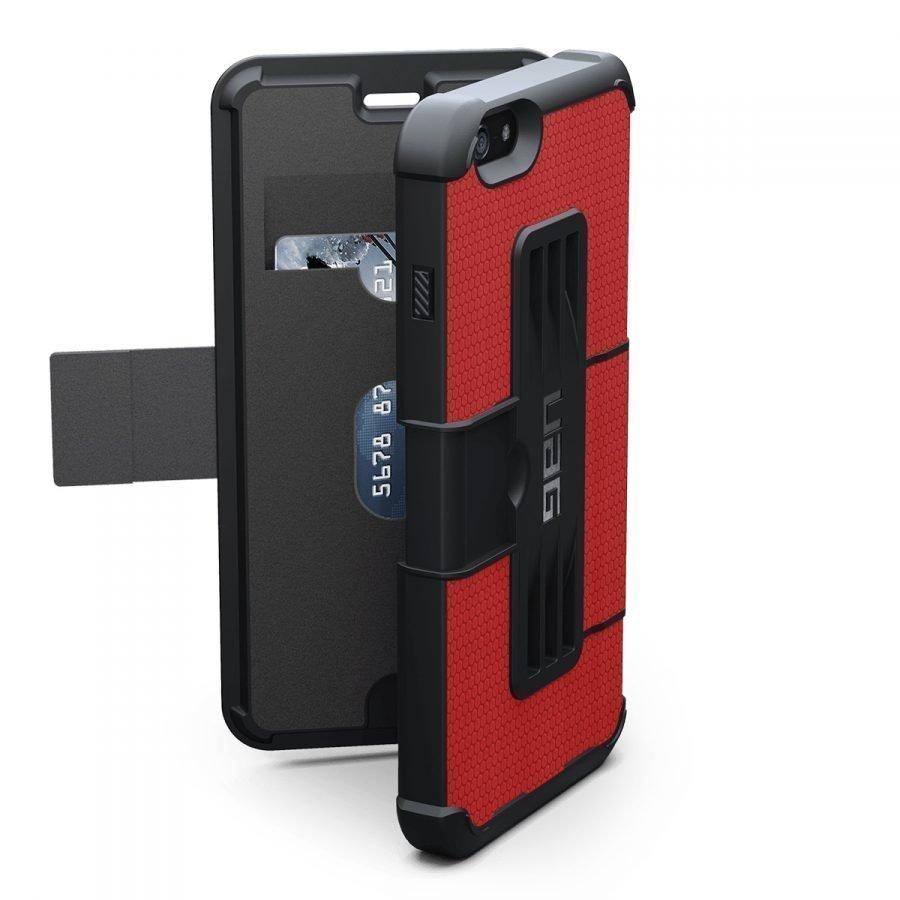 UAG Urban Armor Gear Folio kestävä suojakotelo iPhone 7 Plus / 6S Plus / 6 Plus punainen
