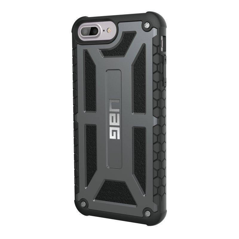 UAG Urban Armor Gear Monarch Premium kestävä suojakotelo iPhone 7 Plus / 6 Plus / 6S Plus Platinum Black