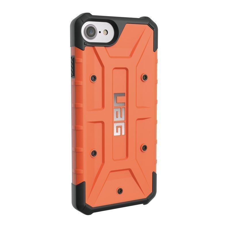 UAG Urban Armor Gear Pathfinder kestävä suojakotelo iPhone 7 / 6S / 6 Musta-oranssi