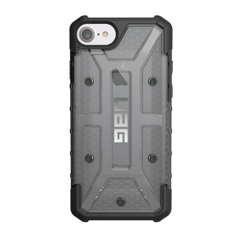 UAG Urban Armor Gear Plasma kestävä suojakotelo iPhone 7 / 6S / 6 Musta / Läpinäkyvä harmaa