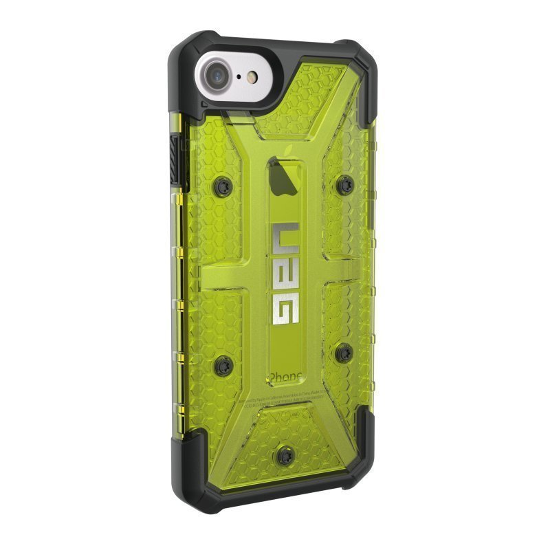 UAG Urban Armor Gear Plasma kestävä suojakotelo iPhone 7 / 6S / 6 Musta / Läpinäkyvä keltainen
