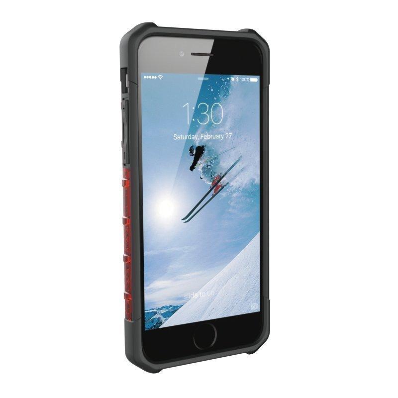 UAG Urban Armor Gear Plasma kestävä suojakotelo iPhone 7 / 6S / 6 Musta / läpinäkyvä punainen