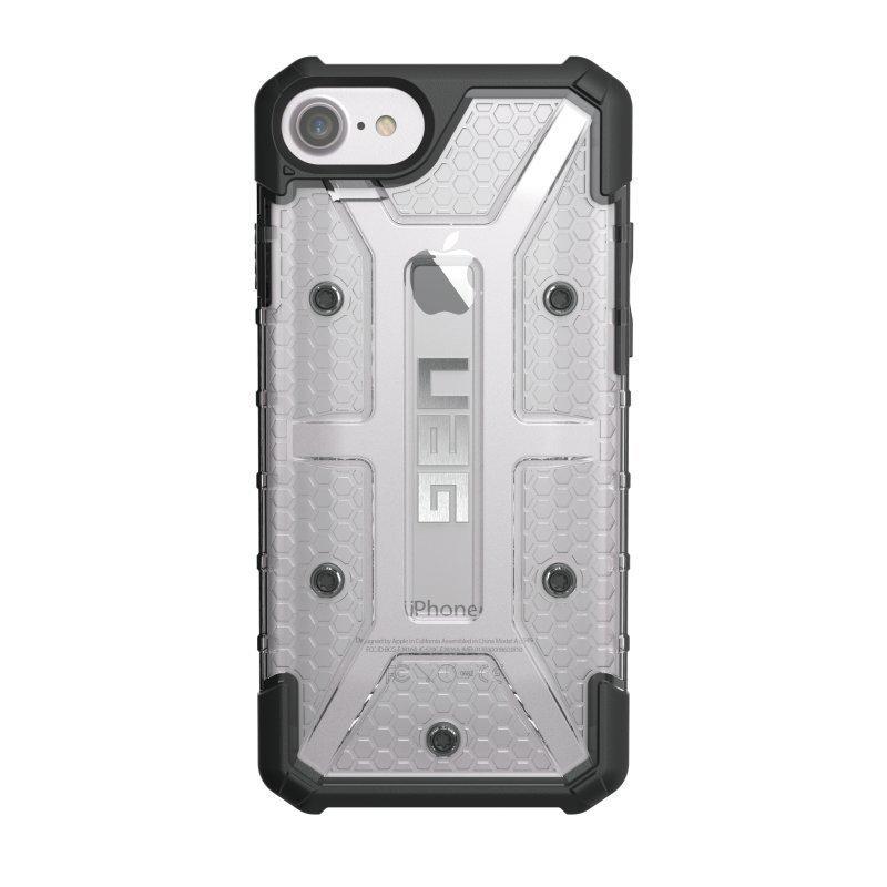 UAG Urban Armor Gear Plasma kestävä suojakotelo iPhone 7 / 6S / 6 Musta / läpinäkyvä