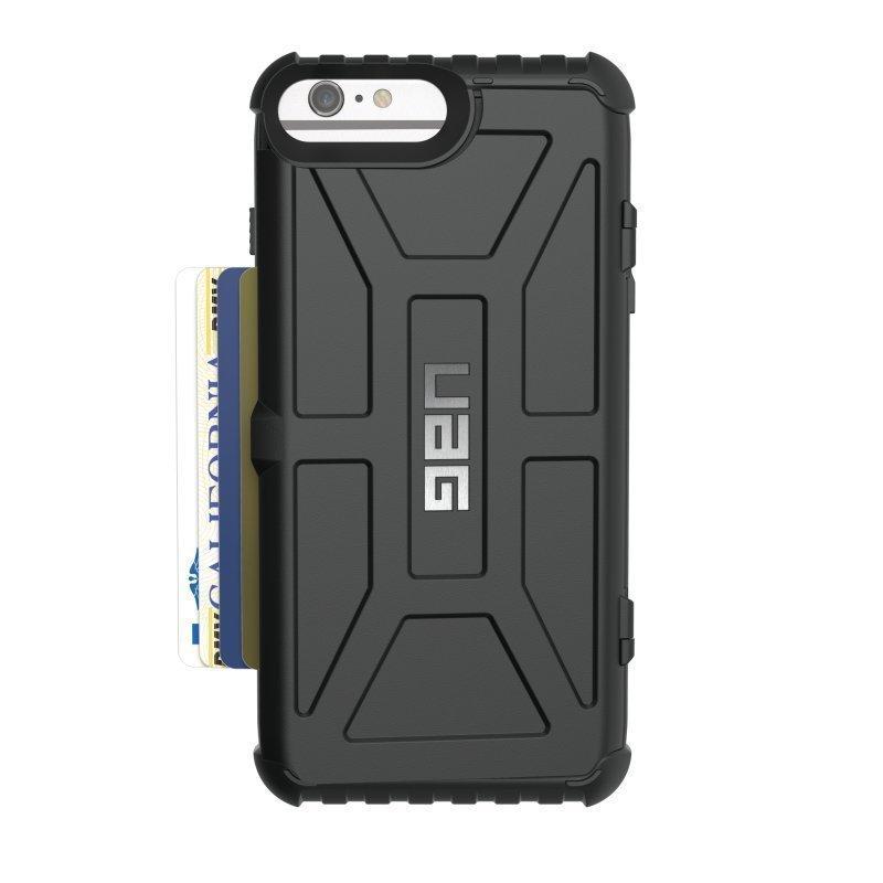 UAG Urban Armor Gear Trooper Card Case kestävä suojakotelo iPhone 7 Plus / 6S Plus / 6 Plus Musta