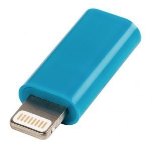 USB Lightning sovitin Lightning uros USB Micro B naaras sininen