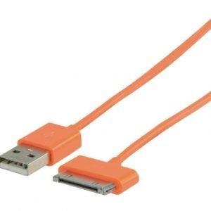 USB synkronointi- ja latauskaapeli 30-napainen telakka uros USB A uros 2 00 m oranssi