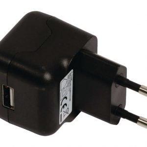 USB-vaihtovirtalaturi USB A naaras vaihtovirtaliitäntä musta