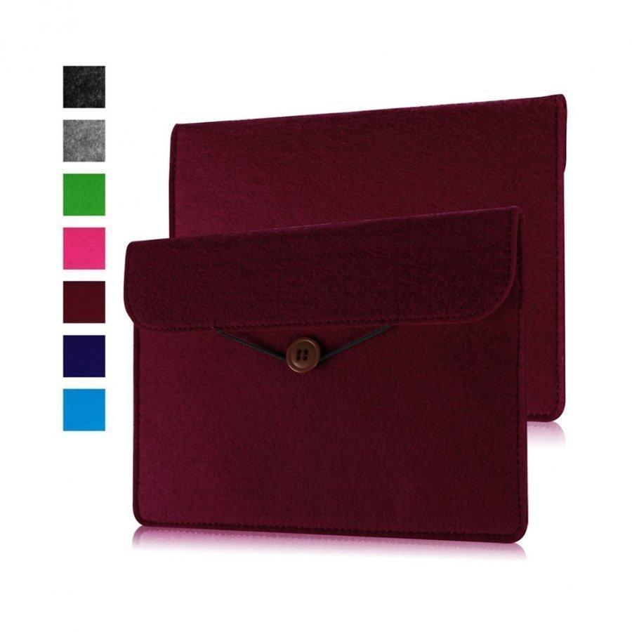 Universaali Amazon Kindle Oasis Huopa Nahkapussi 215 X 155mm Punainen