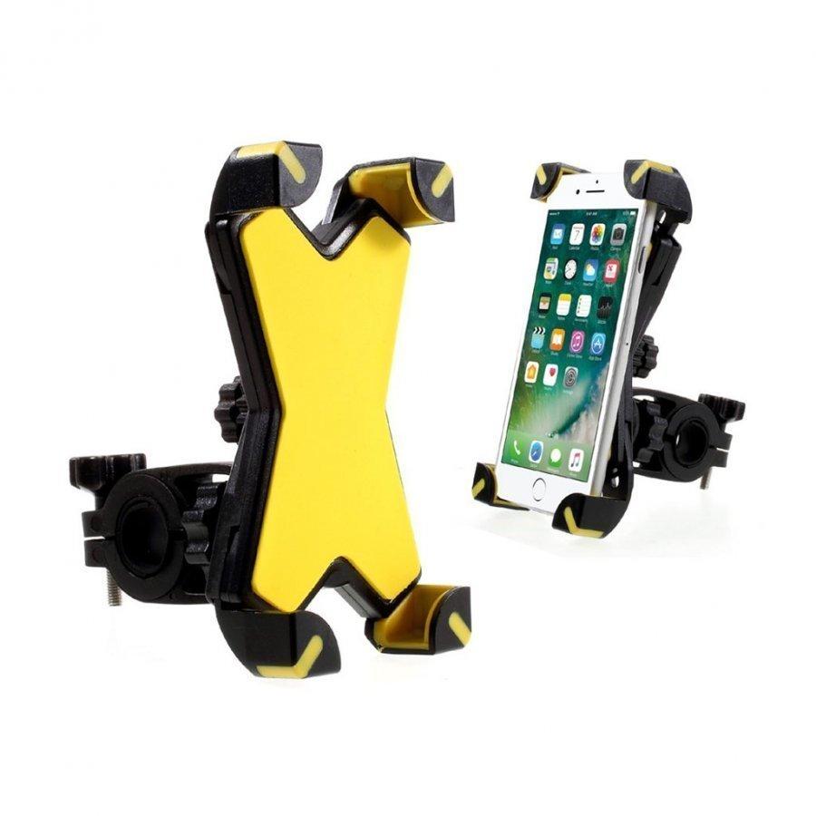 Universaali Kääntyvä Pyöräteline Älypuhelimille Keltainen