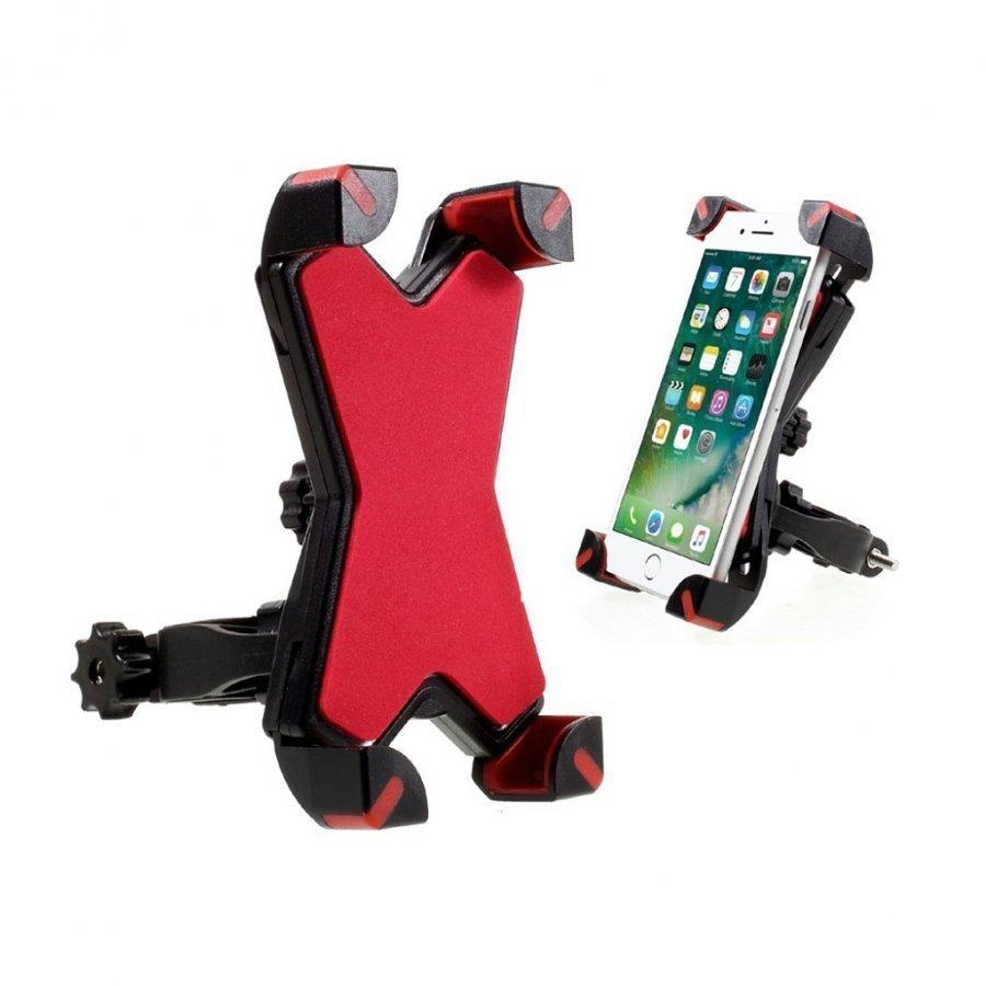 Universaali Kääntyvä Pyöräteline Älypuhelimille Punainen