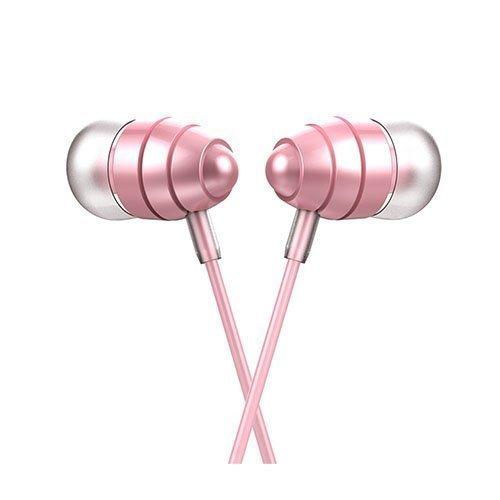 Universaali Korvanappikuulokkeet Mikrofonilla Älypuhelimille Pinkki