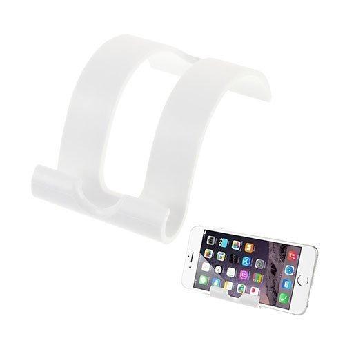 Universaali S-Muotoinen Muovi Standi Älypuhelimille Valkoinen