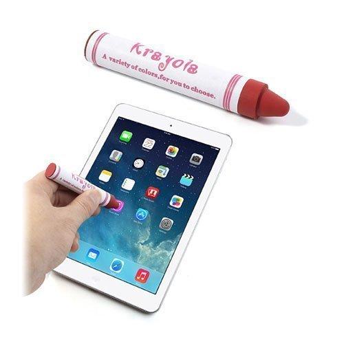 Värikynän Näköinen Kosketusnäyttökynä Älypuhelimille Ja Tableteille Punainen